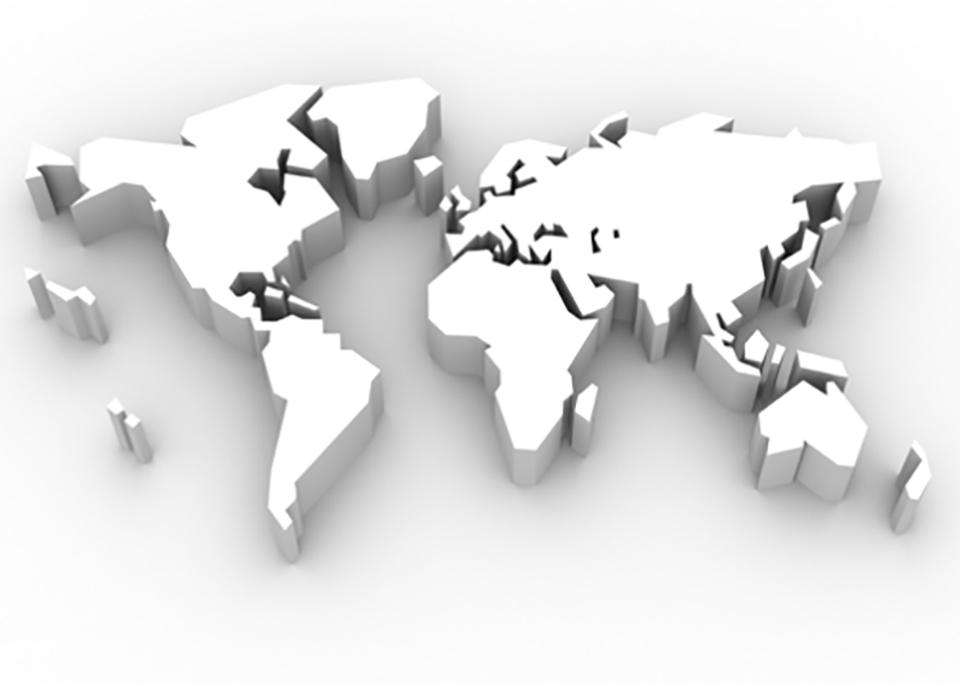 Map Of Asia 3d.Asia